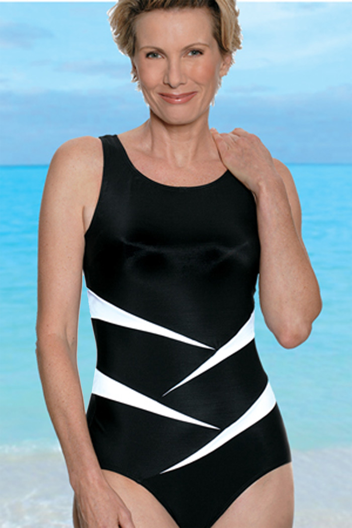 f05d7b31793e3 Fun in the Sun Sport Mastectomy Swimsuit for Post-Mastectomy Women